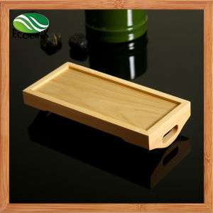 Natural Japanese Rectangular Sushi Bamboo Serving Tray pictures & photos