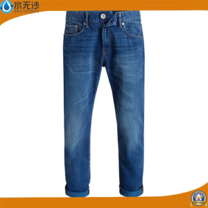 Fashion Brand High Waist Denim Jeans Casual Blue Men Jean pictures & photos