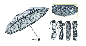3 Section Manual Open Windproof Compact Umbrellas pictures & photos