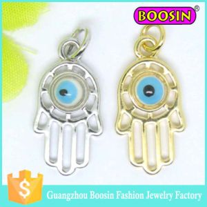 925 Sterling Silver Hamsa Hand Turkish Evil Eye Pendant Charm pictures & photos
