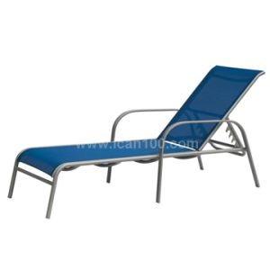 Outdoor Textilene Chaise Lounge Chair (SL-07004) pictures & photos