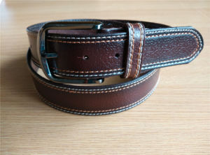 New Fashion Men Leather Belt with Edge Stitch pictures & photos