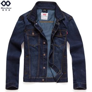 Men Short Jacket Ready Made Fashion Demin Overcoat
