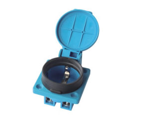 Ce VDE 16A IP54 Waterproof European German Schuko Power Outlet Socket for Industrial Distribution Box with Protection Gates (050301) pictures & photos