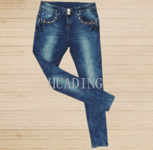 Wholesale Custom Sexy Fashion Women′s Skinny Denim Jeans Hdlj0061 pictures & photos