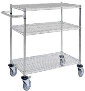 3 Tiers Mobile Adjustable Wire Shelving pictures & photos