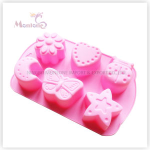 FDA & LFGB Bakeware Star/Moon-Shaped Baking Silicone Cake Mould pictures & photos
