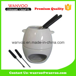 High Quality Ceramic White Fondue Dinnerware Set pictures & photos