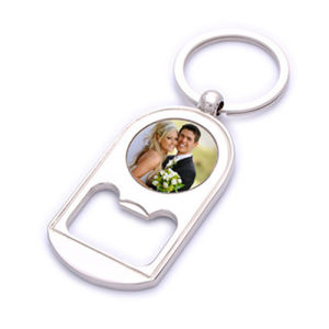 Competitive Promotion Metal Bottle Opener Key Ring with Logo (F5038)