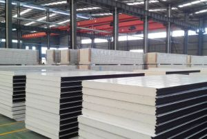 Decorative Polyurethane Foam Metal Sandwich Panel for Cold Storage/Room pictures & photos