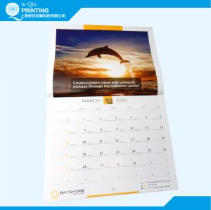 Full Color Printing 2017 Monthly Wall Calendar pictures & photos