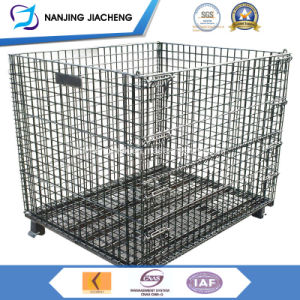 Stacking and Foldable Storage Metal Basket with Wheels pictures & photos