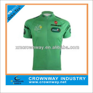Mens Sublimation Print Cycling Jersey with Half Zip Through pictures & photos