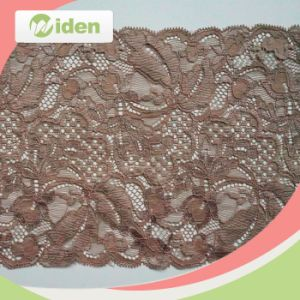Hot Selling Organza Flower Lace Trimming Wide Stretch Lace pictures & photos