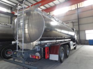 HOWO 6*4 Aluminium Alloy Oil Tank Truck / Fuel Tank Truck pictures & photos