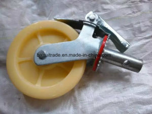 6 Inch PU Castor Rubber Castor Wheel for Scaffolding pictures & photos