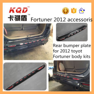 High Quality ABS Rear Bumper Guard for Toyota Fortuner Accesorios Rear Bumper Plate Fortuner 2016 Body Kit Rear Bumper Guard