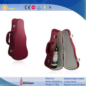 New Design Volin Shaped Leather Wine Box pictures & photos