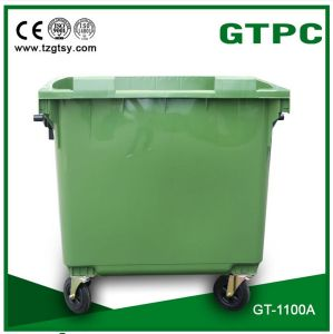 HDPE Dustbin with Wheels 1100L pictures & photos