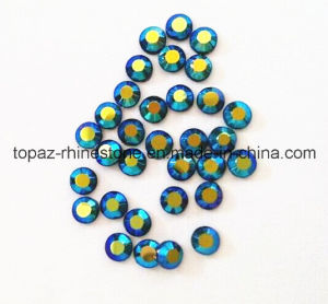 Heat Transfer Iron on Rhinestone Crystal for Shirts (SS10 Blue AB/A Grade) pictures & photos