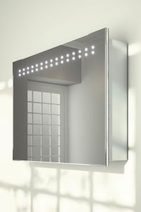 Sliding Mirror Door Bathroom Cabinet with Demister, Sensor pictures & photos