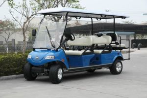 Golf Cart with Solar Panel, 4+2 Seater White pictures & photos