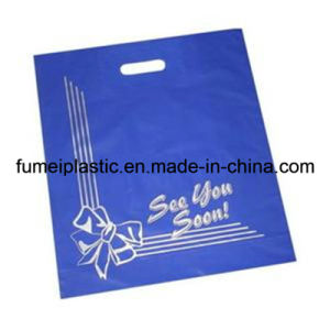 Cheap Die Cut Patch Handle Biodegradable Plastic Shopping Bag