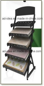Black Metal Display for Tile Exhibition/Quartz Custom Display Tower pictures & photos