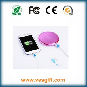 Easy Carry Promotional Gift Cosmetic Mirror Mobile Charger pictures & photos