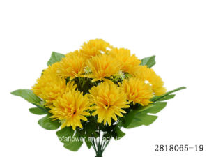 Artificial/Plastic/Silk Flower Chrysanthemum Bush (2818065-19) pictures & photos