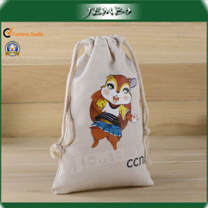 Customized Resuable Cotton Drawstring Bag pictures & photos