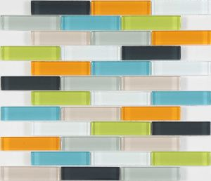 Popular Design Century Mixed Color Glass Strip Pattern Mosaic pictures & photos