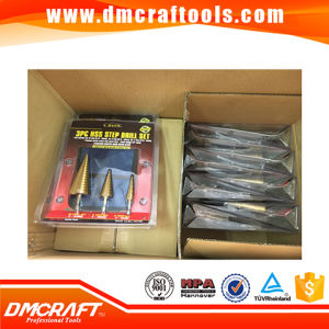 3PCS Titanium HSS Step Drill Bit Set pictures & photos