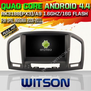 Witson Android 4.4 System Car DVD for Opel Insignia 2008-2011 (W2-A6753L) pictures & photos