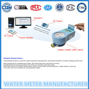 Noncontact System Management Radio Frequency Prepaid Water Meter 15mm-25mm pictures & photos