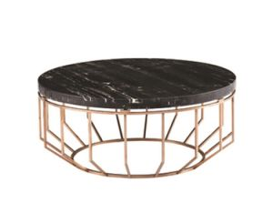 New Style Stainless Steel Frame Furniture Coffee Table with Black Marble pictures & photos
