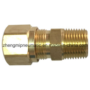 Brass Fitting 968 Male Connector for Nylon Tube (7/16-24) pictures & photos