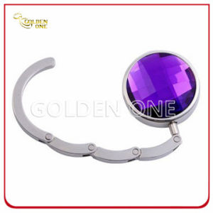 Factory Supply Folding Round Shape Crystal Purse Holder pictures & photos