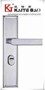 304 Stainless Steel Satin Door Handle on Plate (KTG-6810-026) pictures & photos