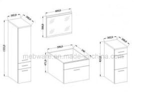 MDF Bathroom Wall Unit Vanity Unit Sink pictures & photos
