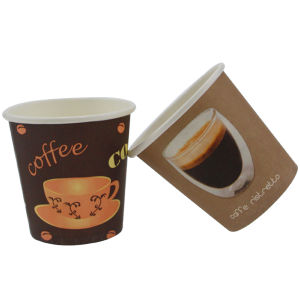 Six Colors 4oz Small Disposable Coffee Cups for Drink pictures & photos