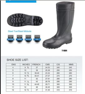 2016 Unisex Rubber Industry Safety Rain Boots /Safety Shoes pictures & photos