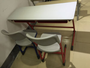 High Quality Popular Double School Furniture Desk and Chair (SF-15D) pictures & photos
