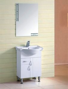 Hot Sale White Color Bathroom Vanity Cabinet (TL8002) pictures & photos