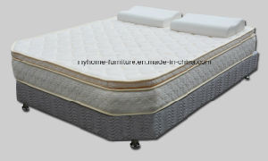 5 Star Hotel King Size Bed Base and Pillow Top Spring Mattresses with Boxspring