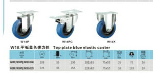 Top Plate Blue Elastic Caster pictures & photos