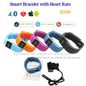 Bluetooth Smart Bracelet with Heart Rate Monitoring (ID100) pictures & photos