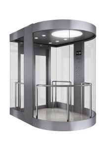 Semi-Circle Vvvf Controlglass Panoramic Elevator pictures & photos