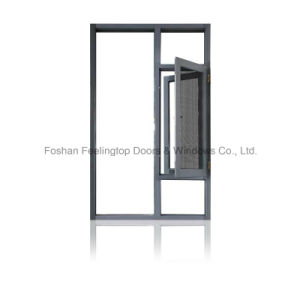 Aluminum 3 Cavity Structure with Mesh Screen Casement Window (FT-W135) pictures & photos