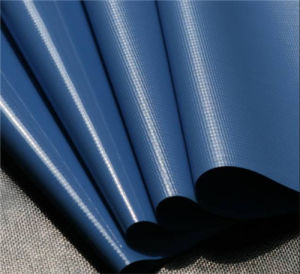 PVC Cold Laminated Tarpaulin Printing Waterproof Fabric (1000dx1000d 9X9 510g) pictures & photos